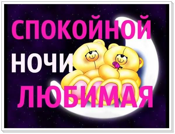 Красивые пожелания спокойной ночи любимой своими словами