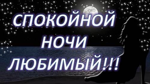 Красивое пожелание спокойной ночи любимому