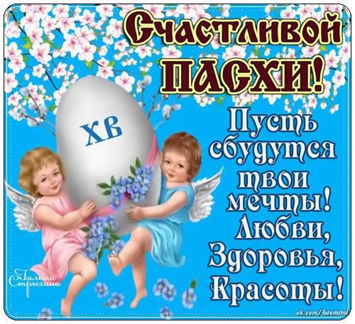 Поздравления с Пасхой маме