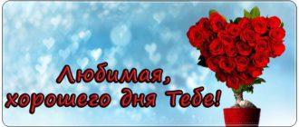 Пожелания хорошего дня жене стихи, проза, СМС